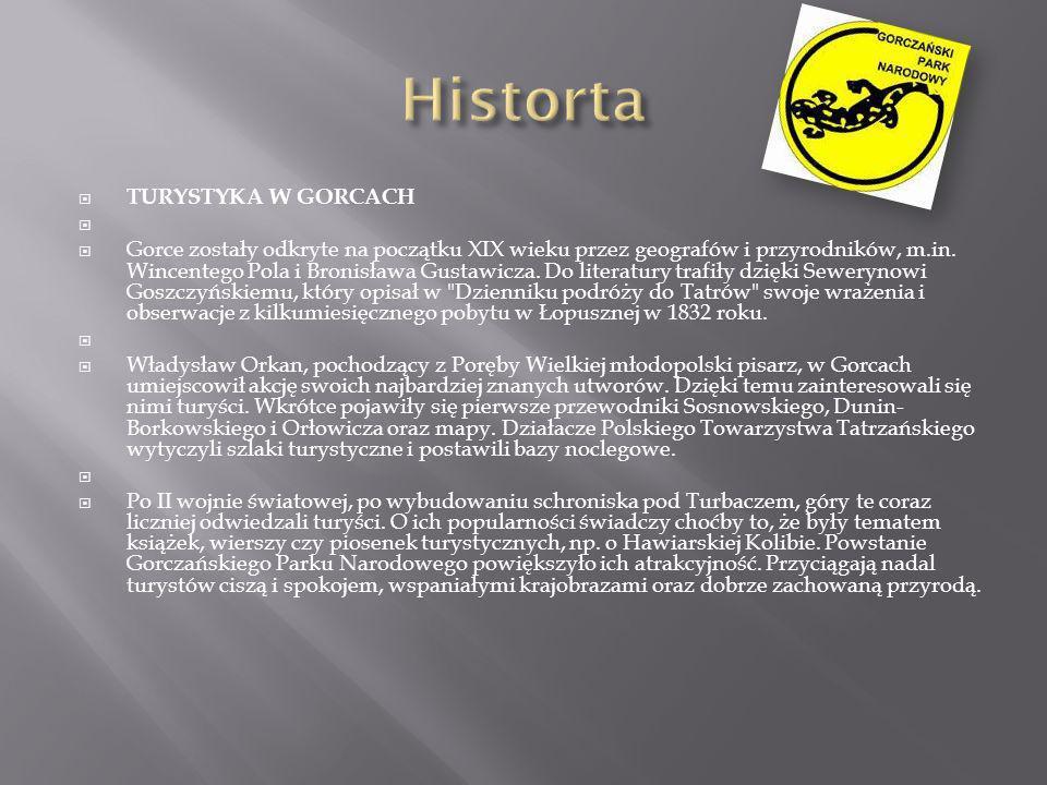 Historta TURYSTYKA W GORCACH