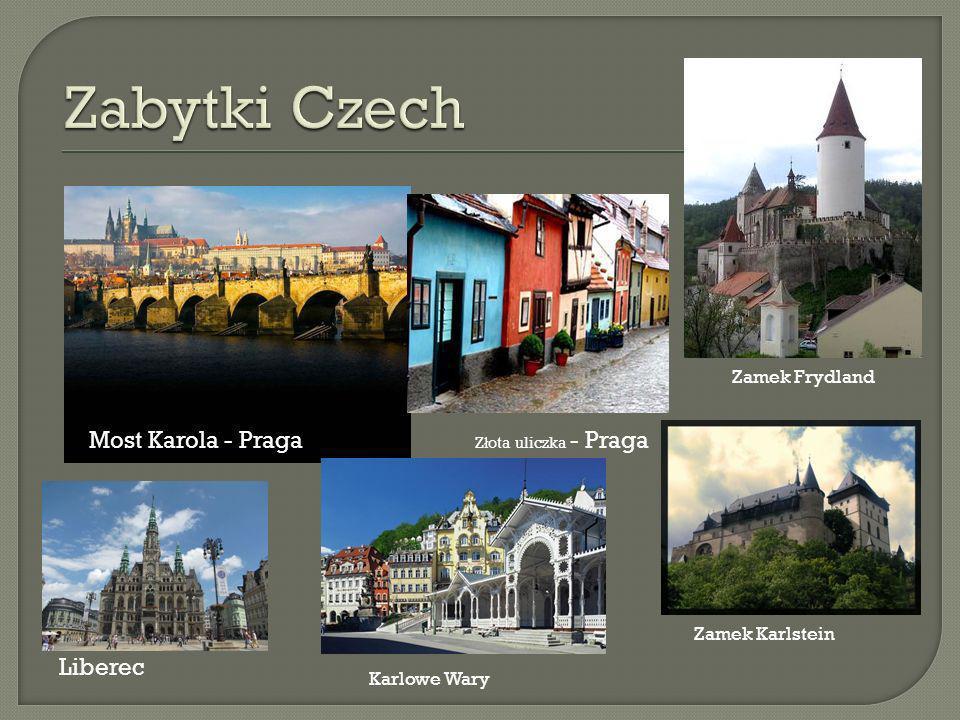 Zabytki Czech Most Karola - Praga Liberec Zamek Frydland