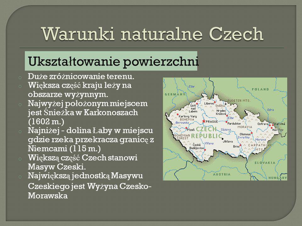 Warunki naturalne Czech