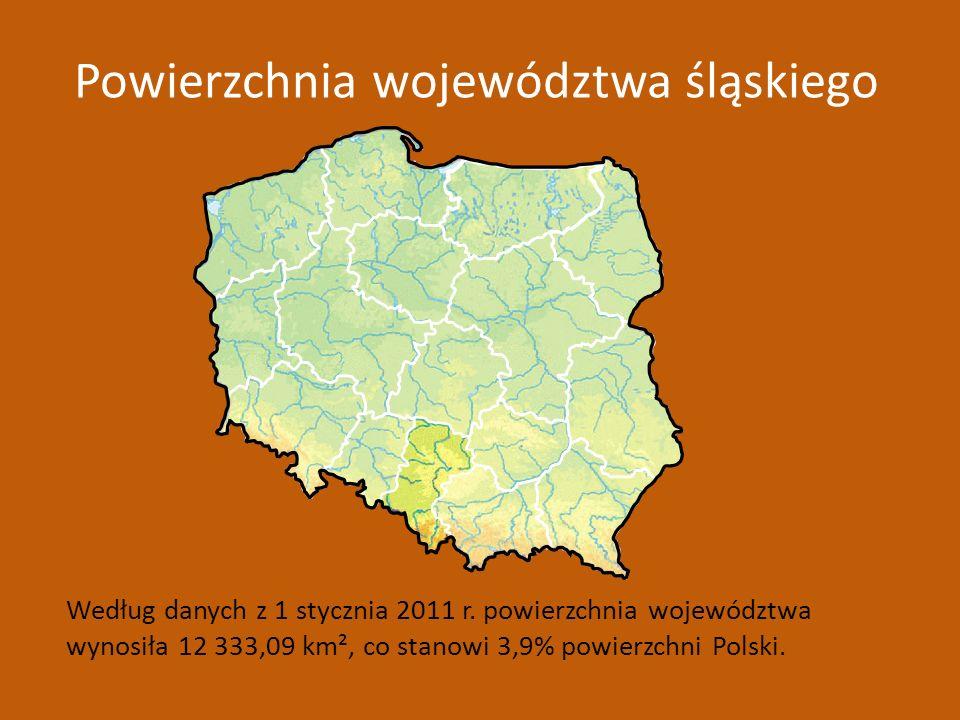 Powierzchnia województwa śląskiego