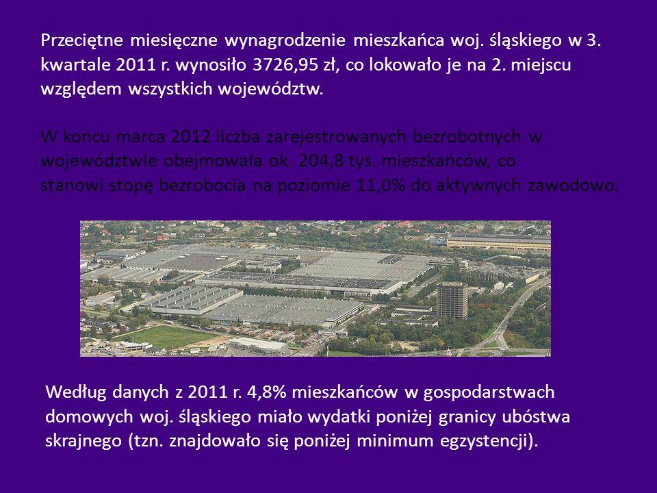 Przeciętne miesięczne wynagrodzenie mieszkańca woj. śląskiego w 3