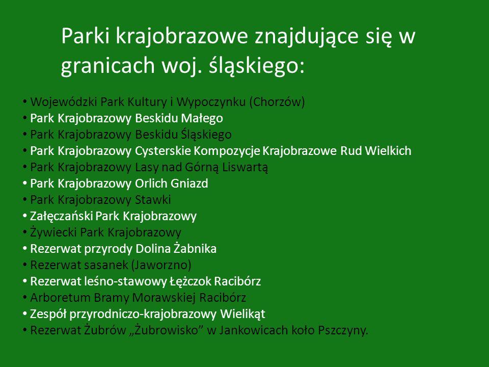 Parki krajobrazowe znajdujące się w granicach woj. śląskiego: