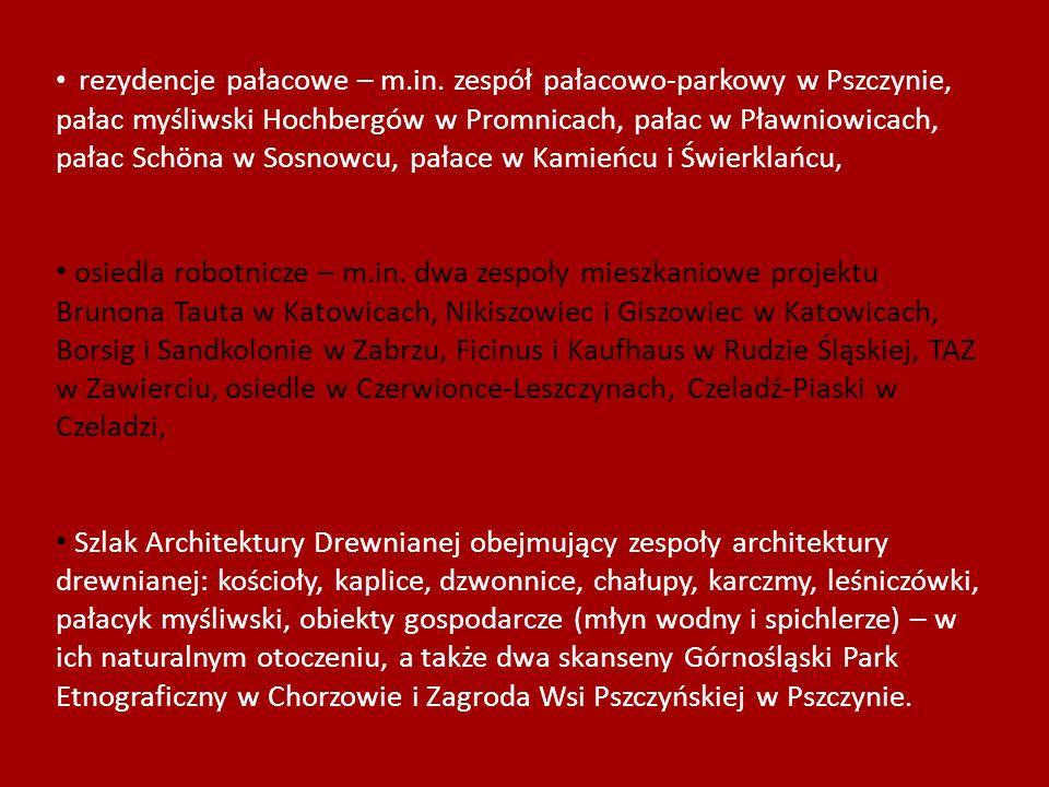rezydencje pałacowe – m. in