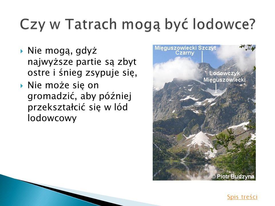 Czy w Tatrach mogą być lodowce