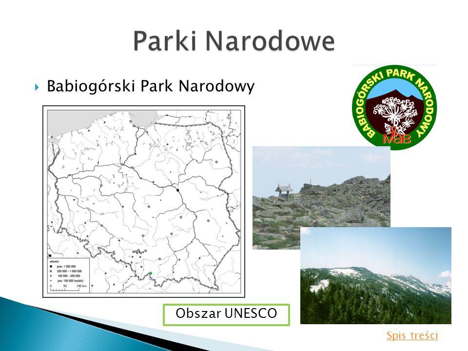 Parki Narodowe Babiogórski Park Narodowy Obszar UNESCO Spis treści