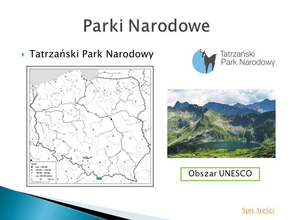 Parki Narodowe Tatrzański Park Narodowy Obszar UNESCO Spis treści