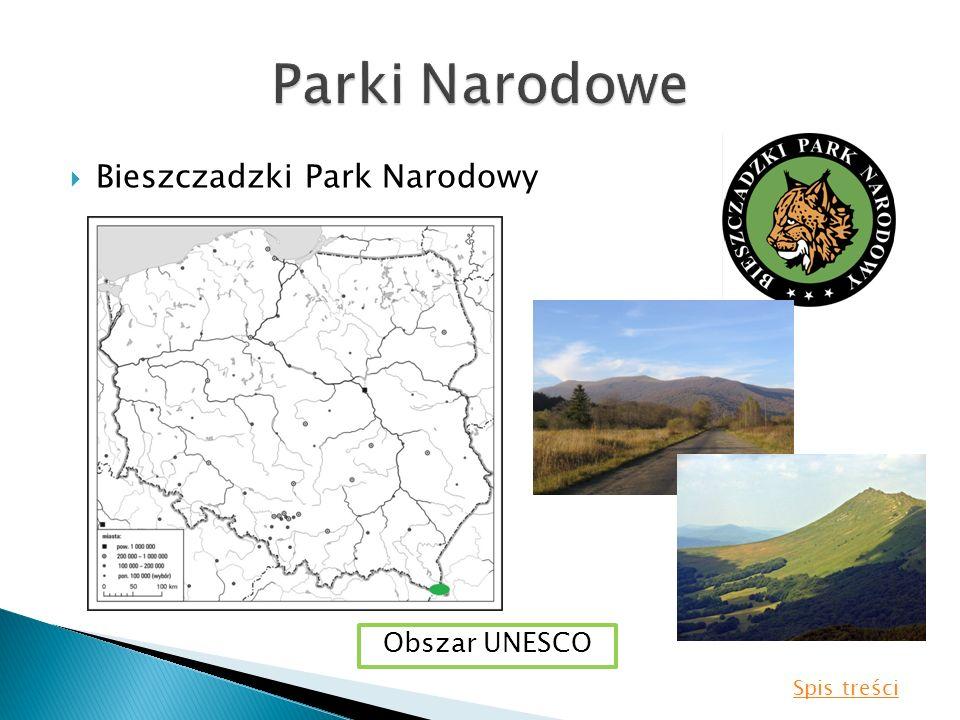 Parki Narodowe Bieszczadzki Park Narodowy Obszar UNESCO Spis treści