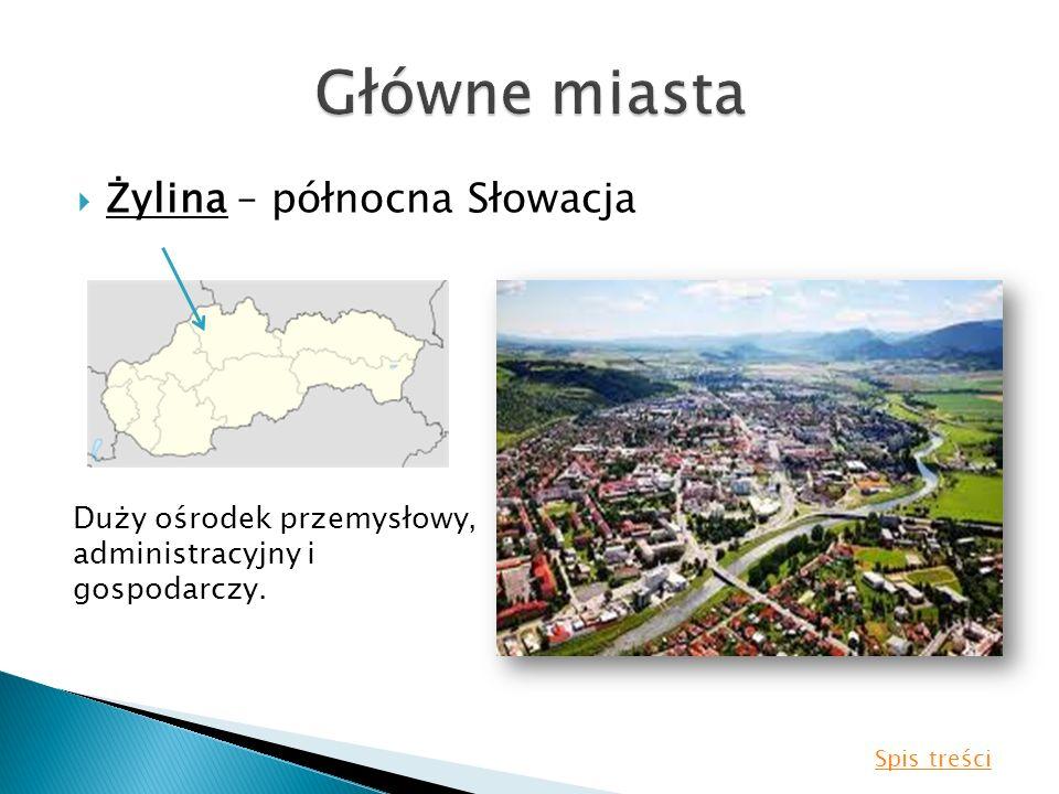 Główne miasta Żylina – północna Słowacja