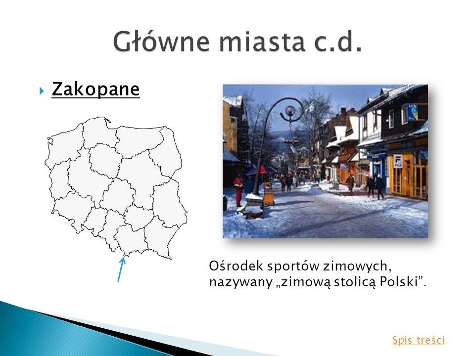 Główne miasta c.d. Zakopane