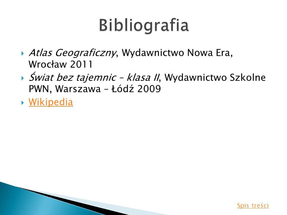 Bibliografia Atlas Geograficzny, Wydawnictwo Nowa Era, Wrocław 2011