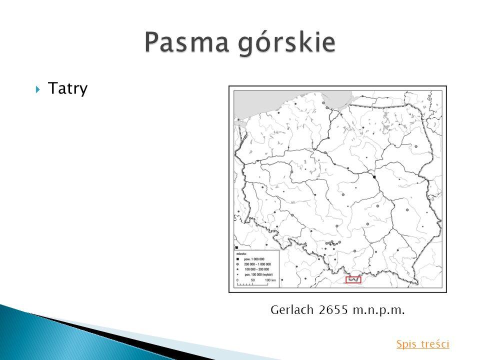 Pasma górskie Tatry Gerlach 2655 m.n.p.m. Spis treści