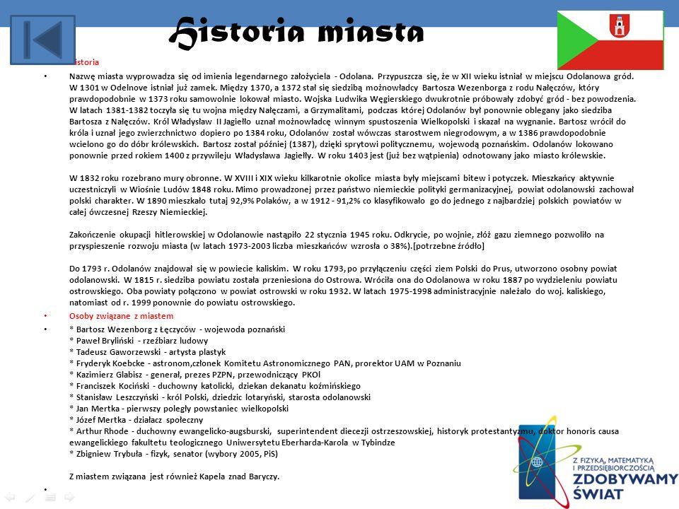 Historia miasta Historia