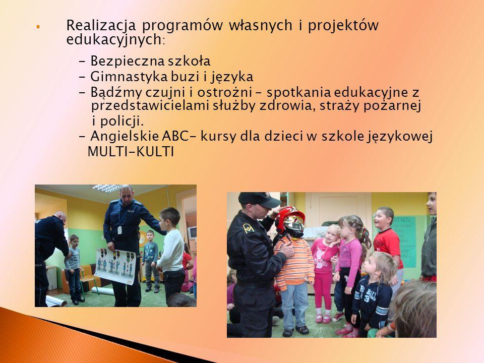 Realizacja programów własnych i projektów edukacyjnych: