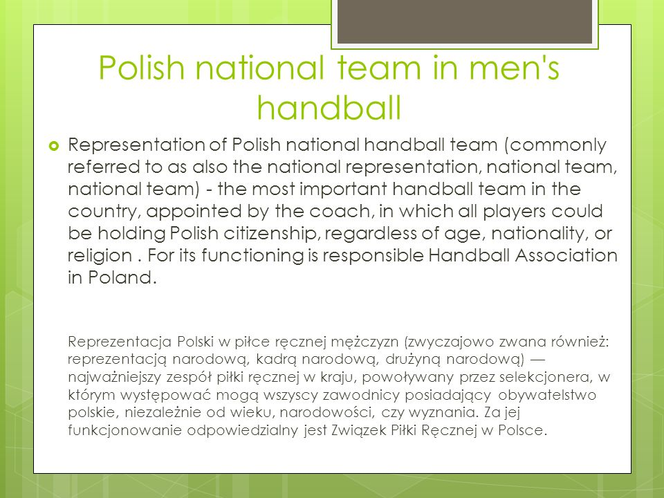 Polish national team in men s handball