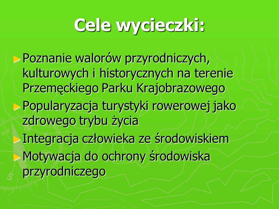 Cele wycieczki: Poznanie walorów przyrodniczych, kulturowych i historycznych na terenie Przemęckiego Parku Krajobrazowego.