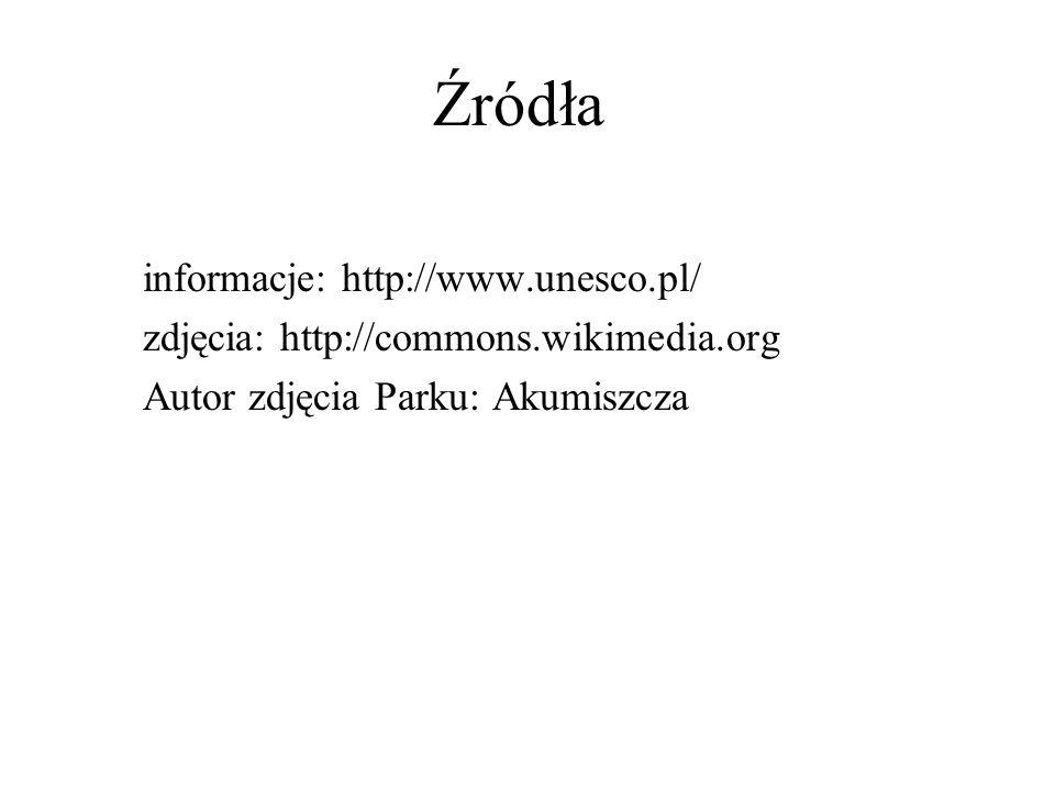 Źródła informacje: http://www.unesco.pl/