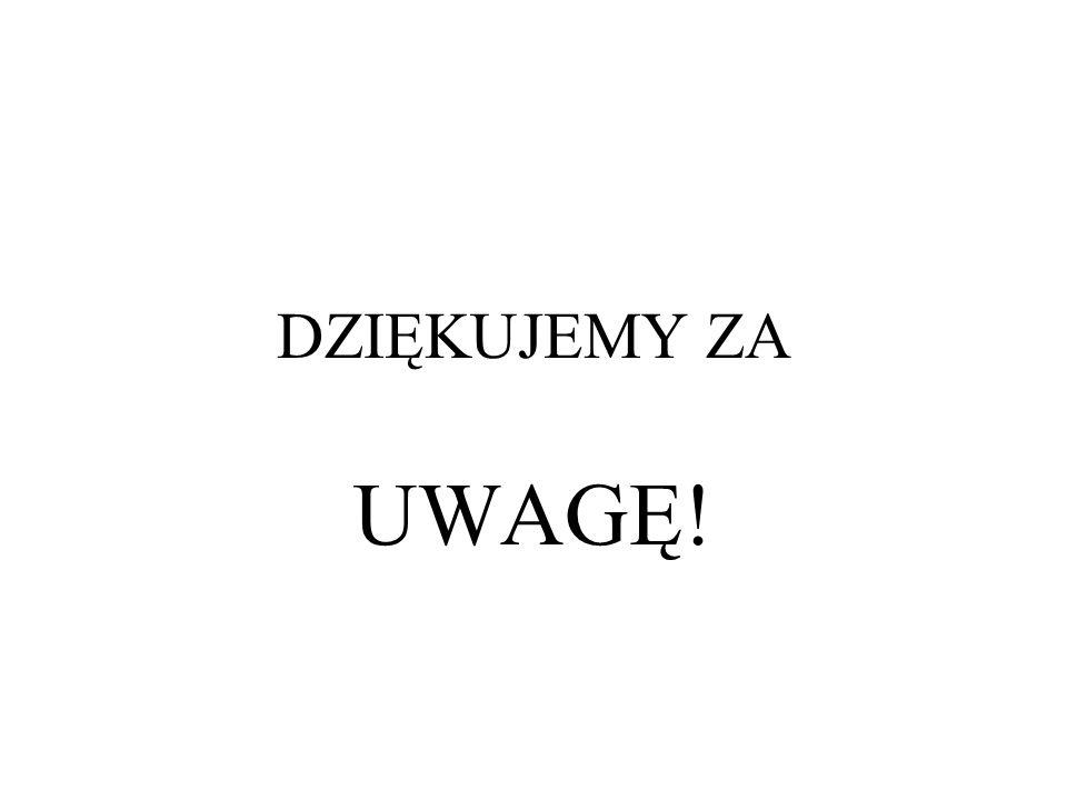 DZIĘKUJEMY ZA UWAGĘ! Emilia i Agnieszka