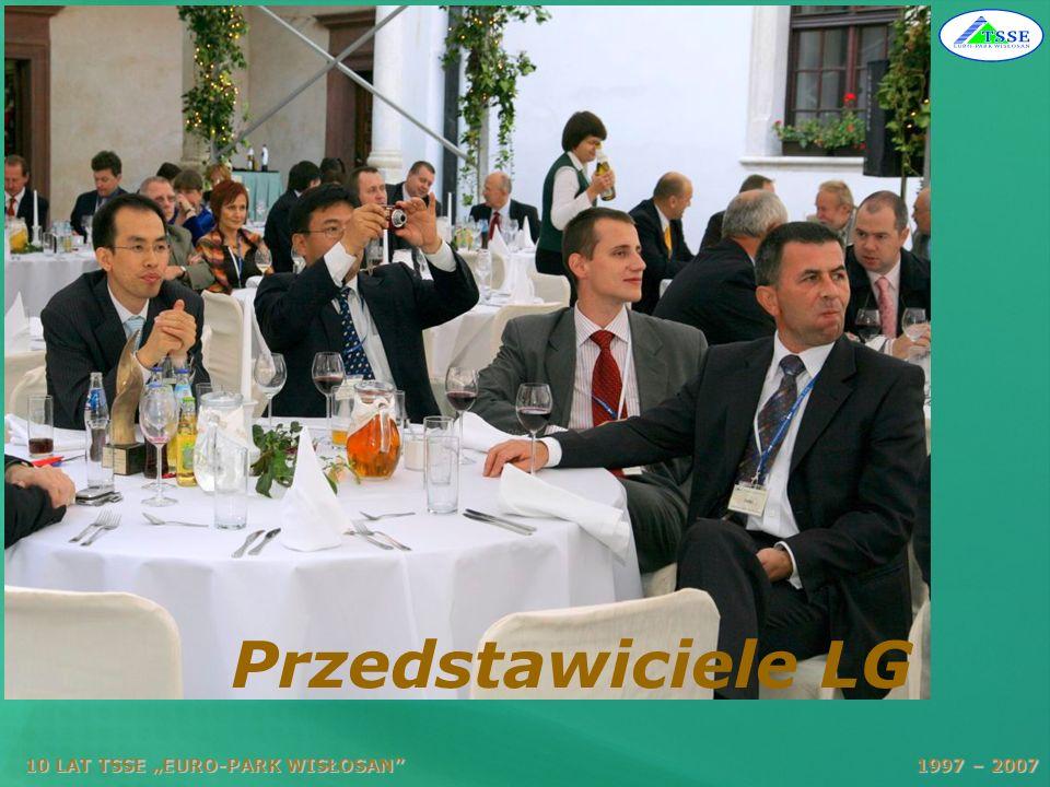 """Przedstawiciele LG 10 LAT TSSE """"EURO-PARK WISŁOSAN 1997 – 2007."""