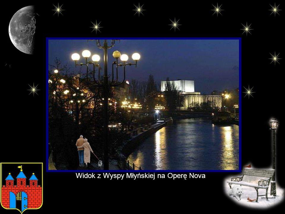 Widok z Wyspy Młyńskiej na Operę Nova
