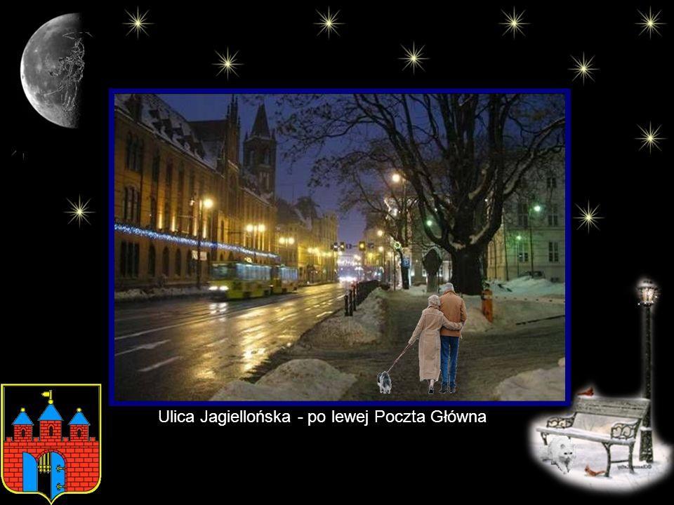 Ulica Jagiellońska - po lewej Poczta Główna