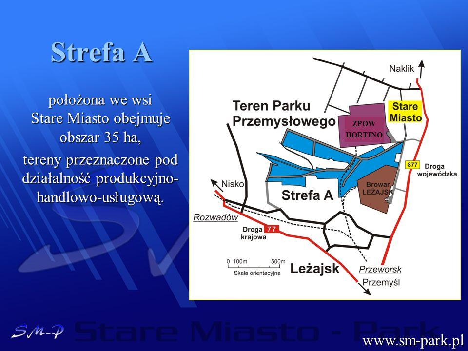 Strefa A położona we wsi Stare Miasto obejmuje obszar 35 ha,