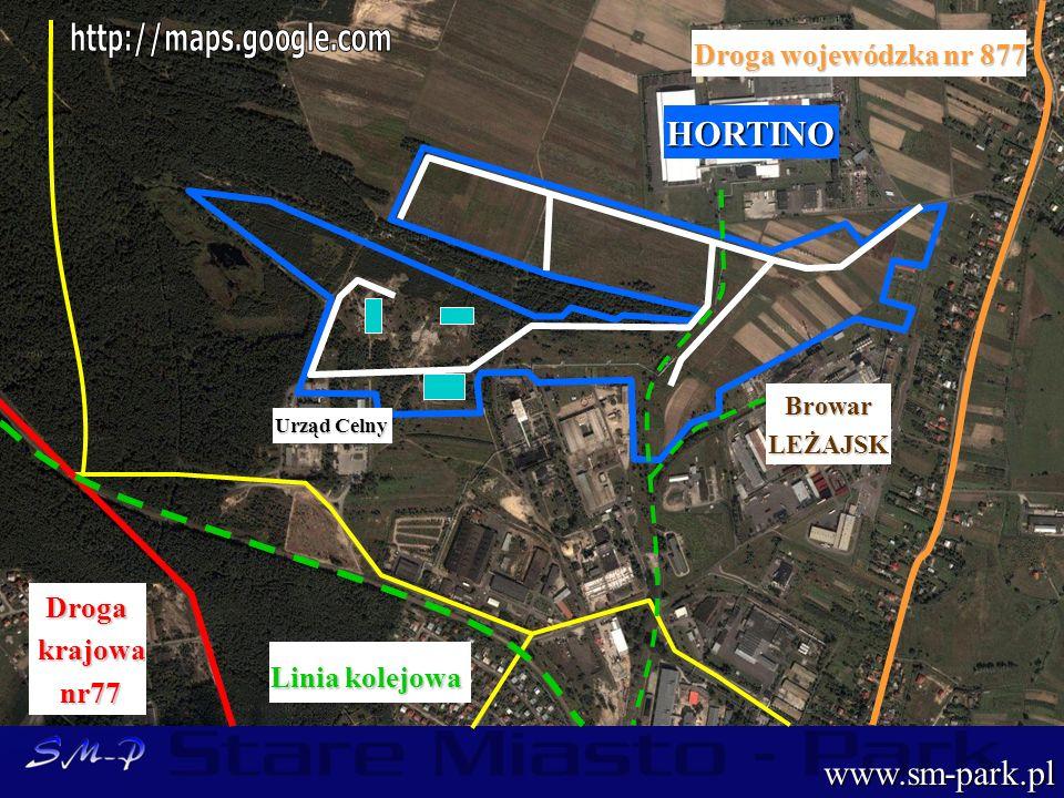 HORTINO www.sm-park.pl http://maps.google.com Droga wojewódzka nr 877