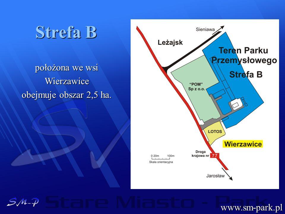 Strefa B położona we wsi Wierzawice obejmuje obszar 2,5 ha.