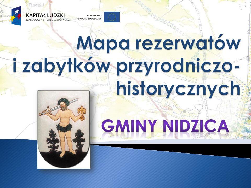 Mapa rezerwatów i zabytków przyrodniczo-historycznych