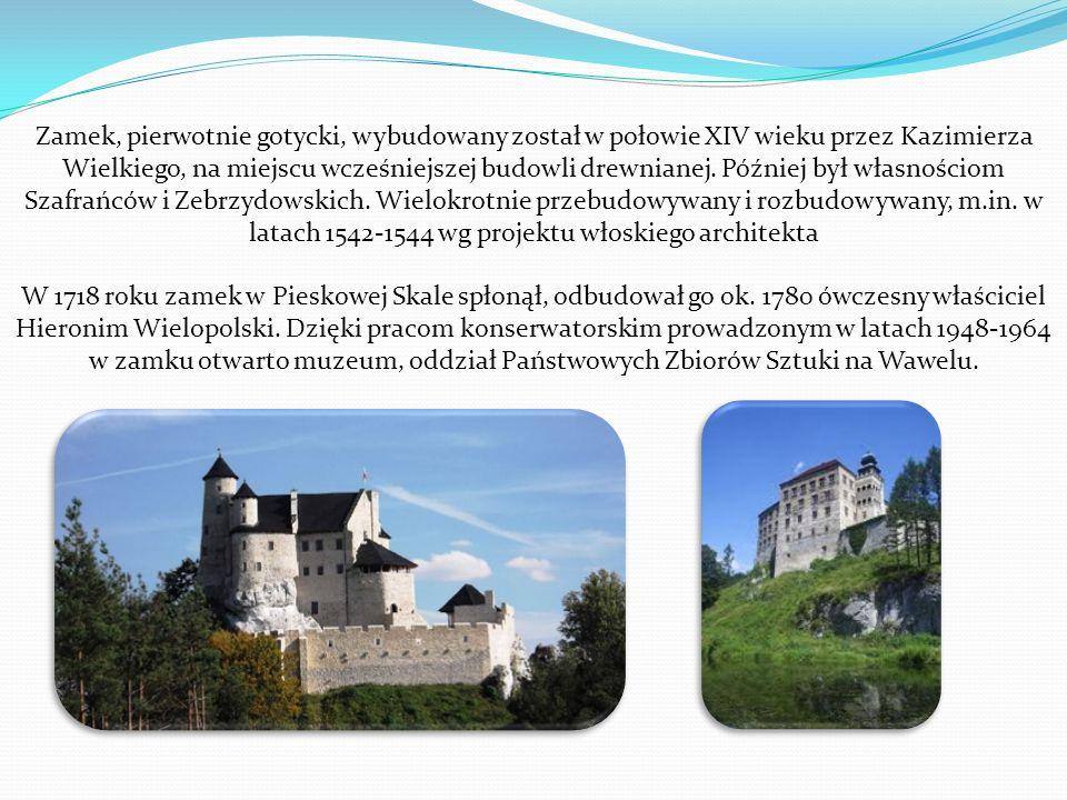Zamek, pierwotnie gotycki, wybudowany został w połowie XIV wieku przez Kazimierza Wielkiego, na miejscu wcześniejszej budowli drewnianej.