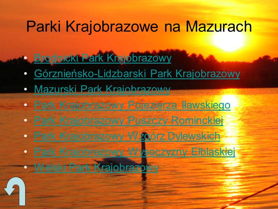Parki Krajobrazowe na Mazurach