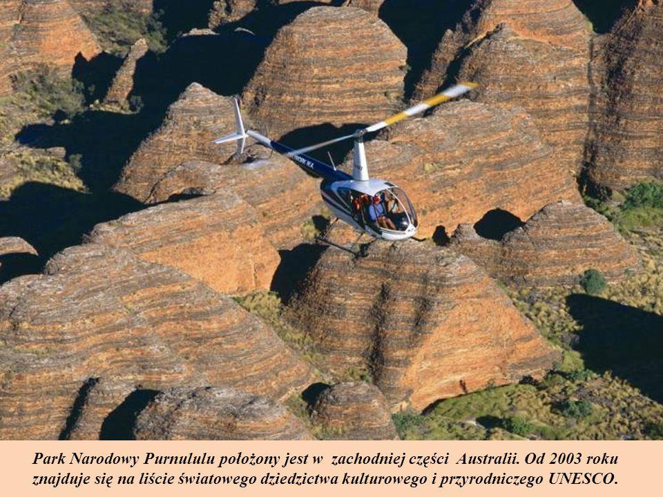 Park Narodowy Purnululu położony jest w zachodniej części Australii