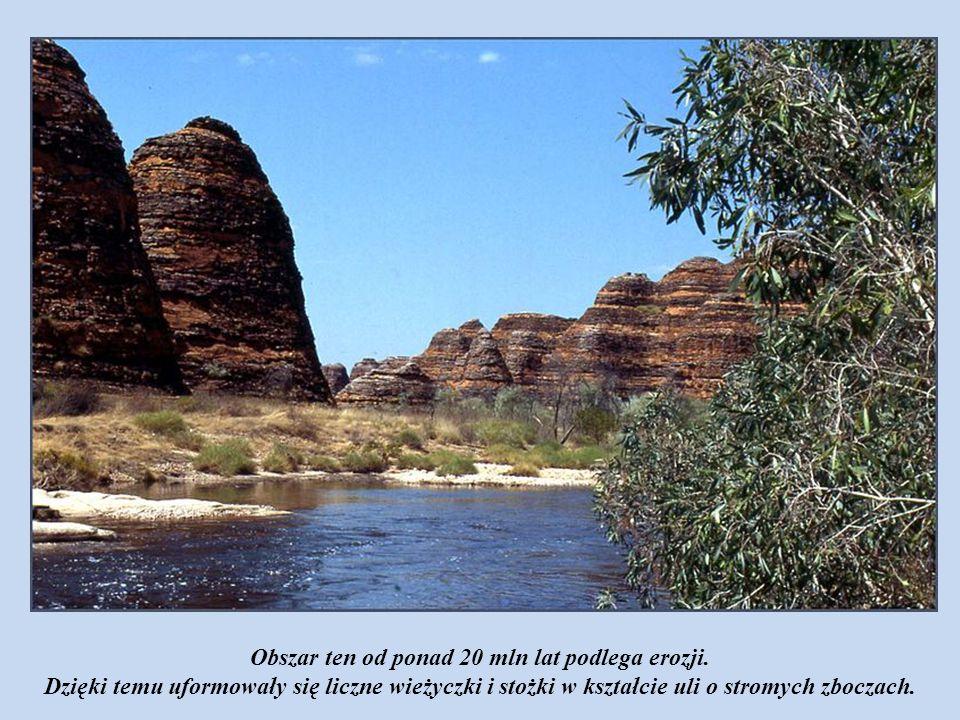 Obszar ten od ponad 20 mln lat podlega erozji.