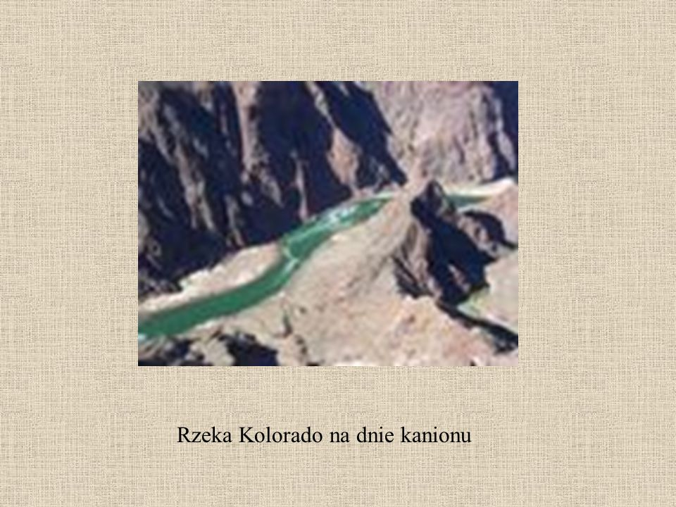 Rzeka Kolorado na dnie kanionu