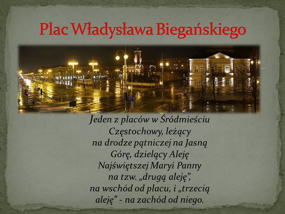 Plac Władysława Biegańskiego
