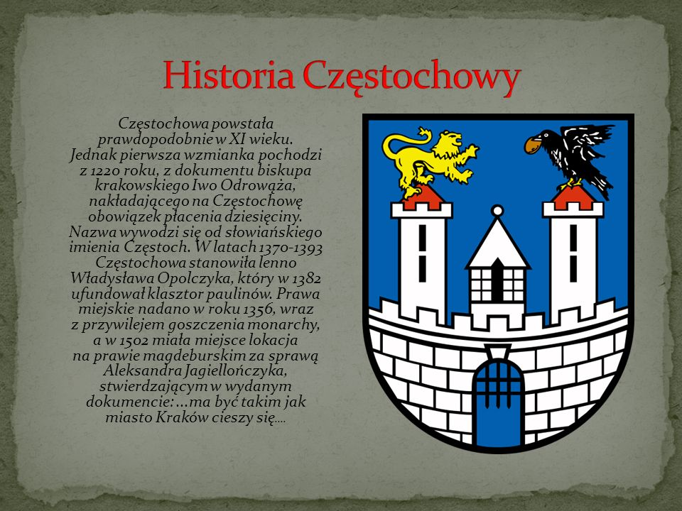Historia Częstochowy