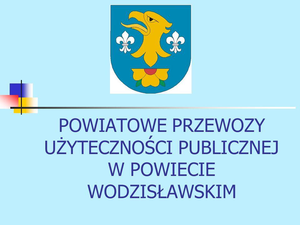 POWIATOWE PRZEWOZY UŻYTECZNOŚCI PUBLICZNEJ W POWIECIE WODZISŁAWSKIM