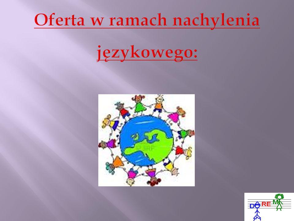 Oferta w ramach nachylenia językowego: