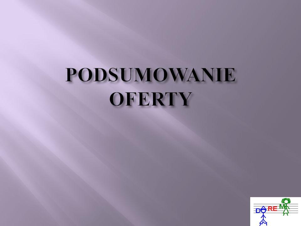 PODSUMOWANIE OFERTY