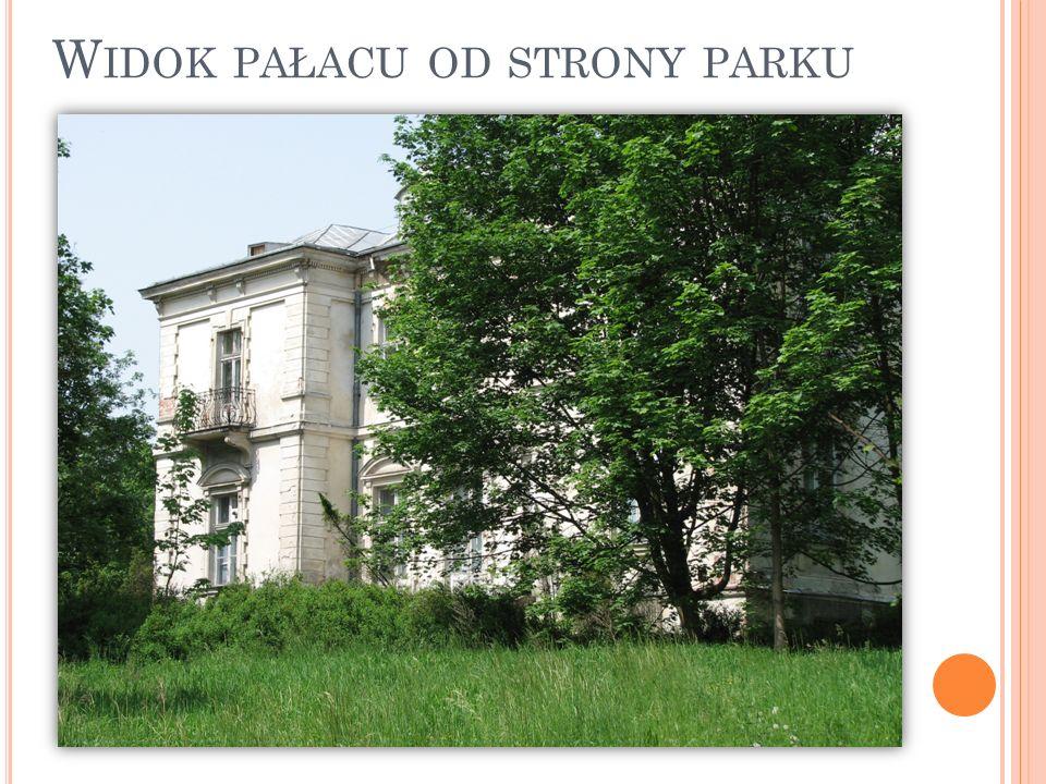 Widok pałacu od strony parku