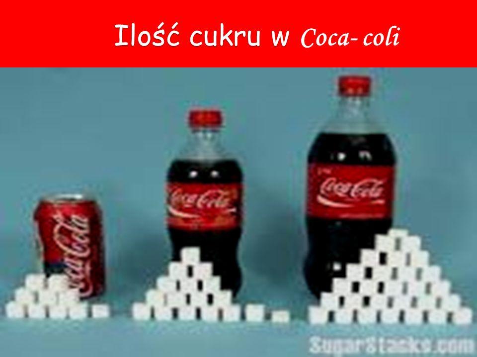 Ilość cukru w Coca- coli