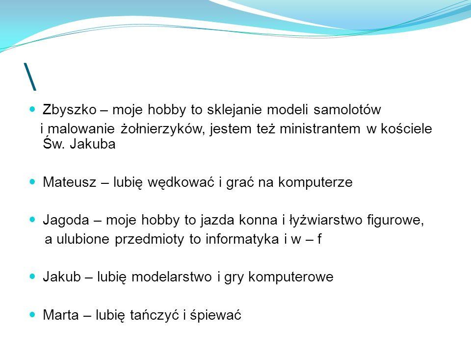 \ Zbyszko – moje hobby to sklejanie modeli samolotów