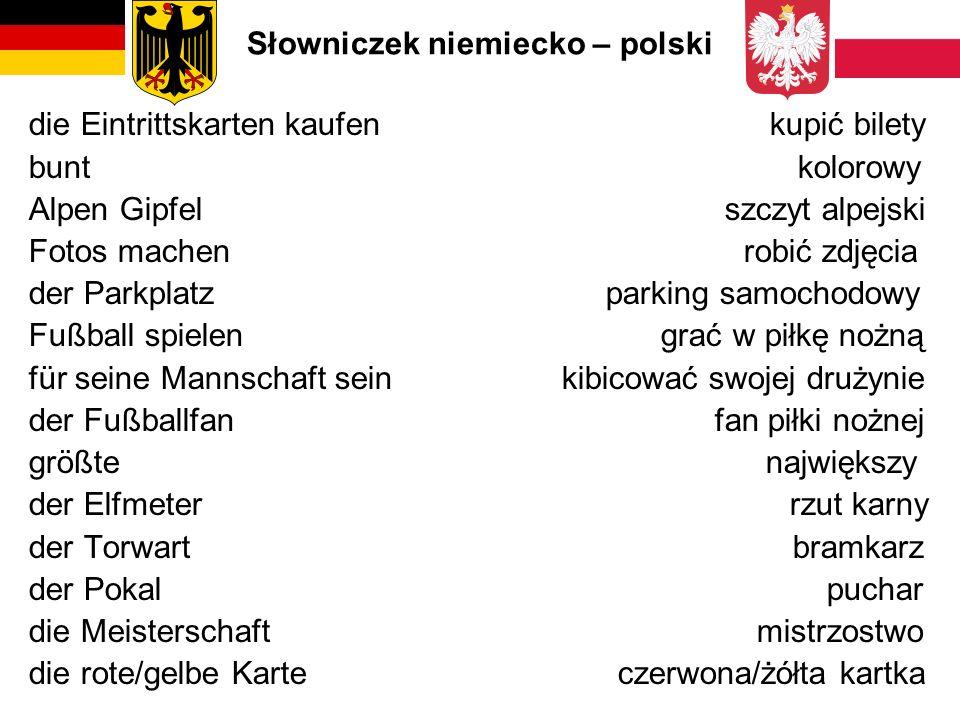 Słowniczek niemiecko – polski