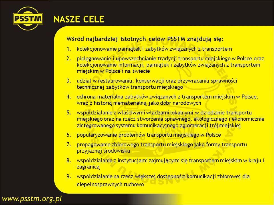 NASZE CELE Wśród najbardziej istotnych celów PSSTM znajdują się: