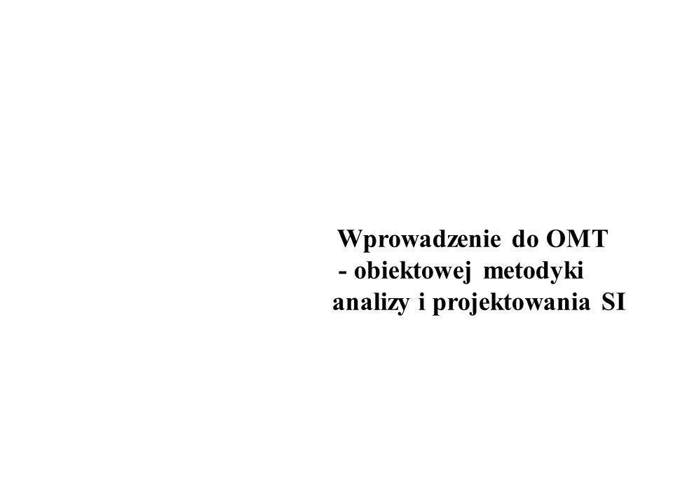 - obiektowej metodyki analizy i projektowania SI