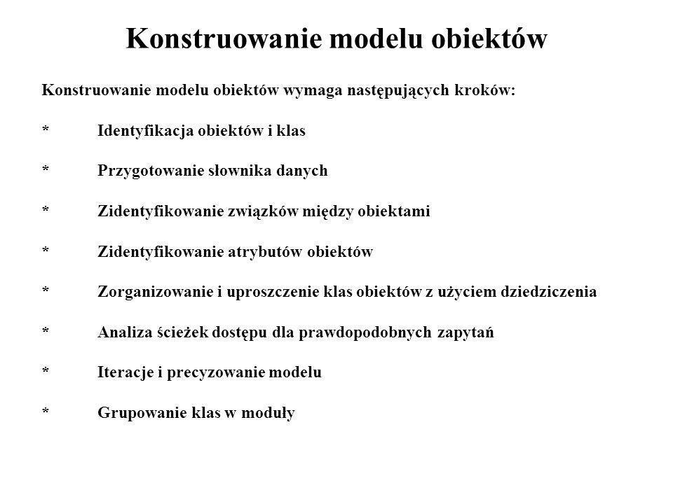 Konstruowanie modelu obiektów