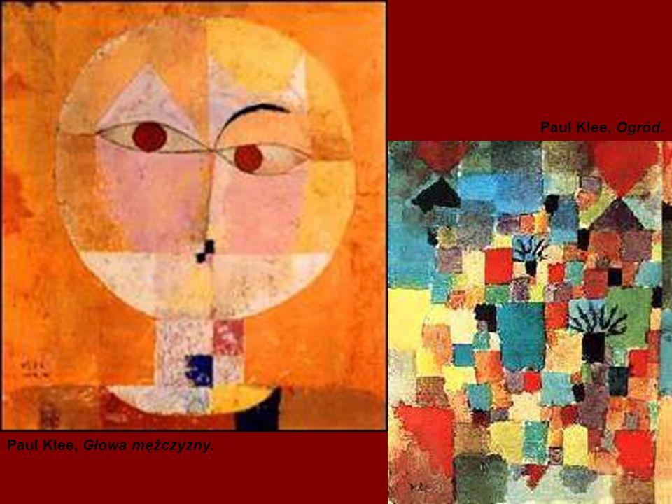 Paul Klee, Ogród. Paul Klee, Głowa mężczyzny.