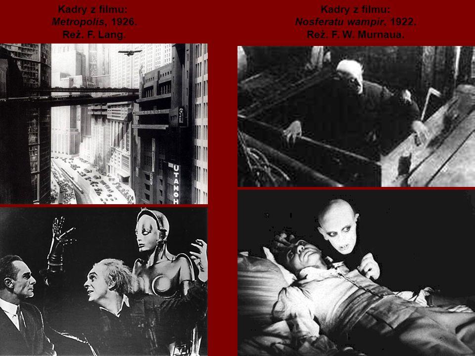 Kadry z filmu: Metropolis, 1926. Reż. F. Lang.