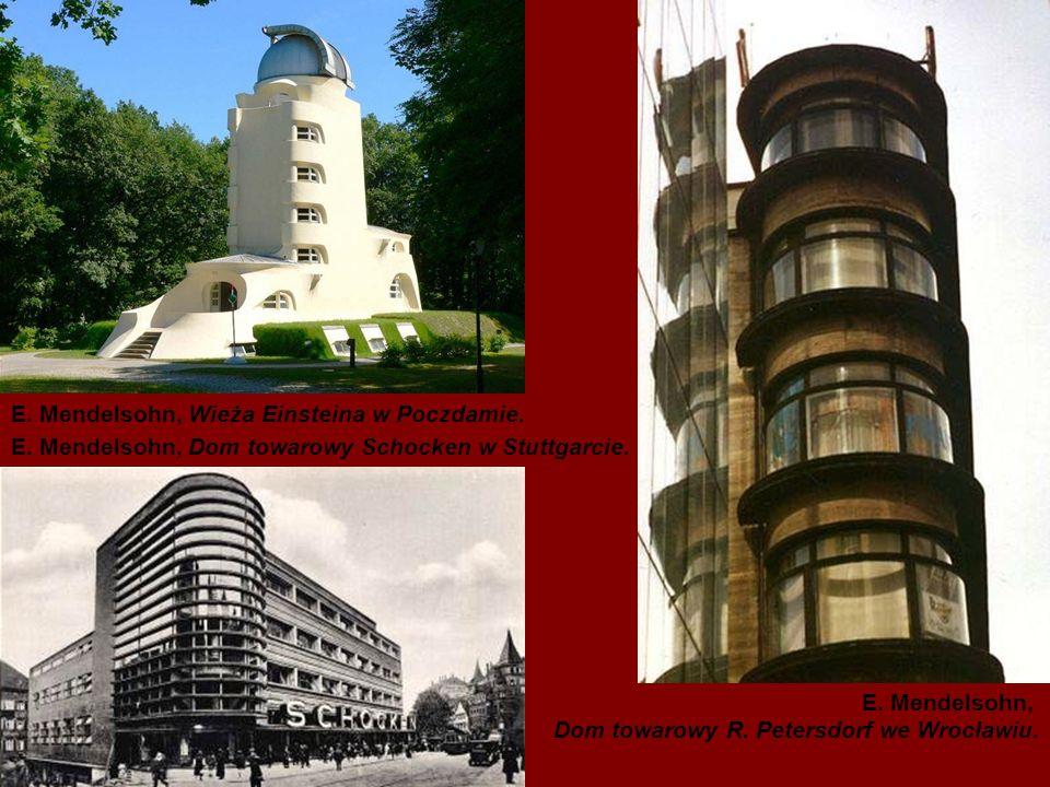 E. Mendelsohn, Wieża Einsteina w Poczdamie.