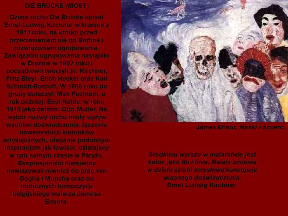 James Ensor, Maski i śmierć.