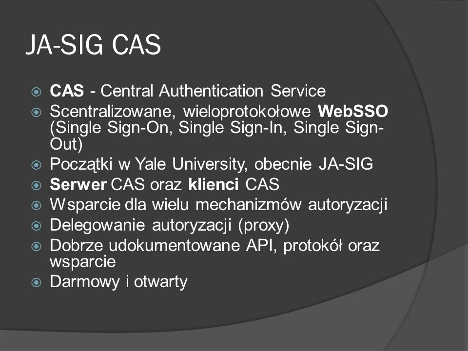 JA-SIG CAS CAS - Central Authentication Service